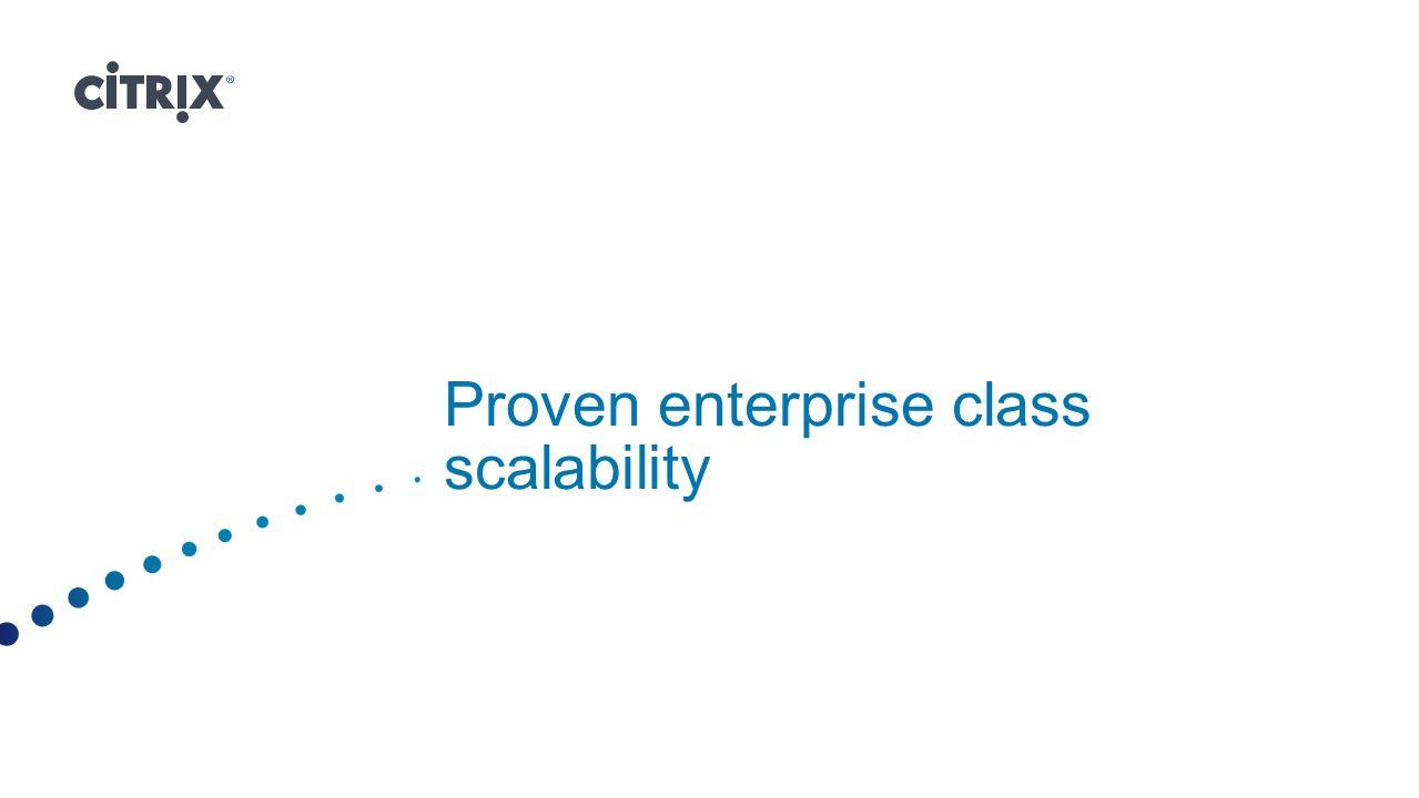 Proven enterprise class scalability