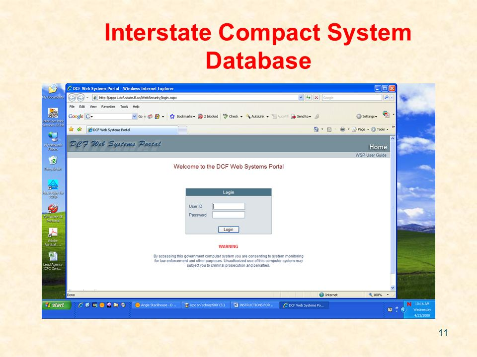 11 Interstate Compact System Database