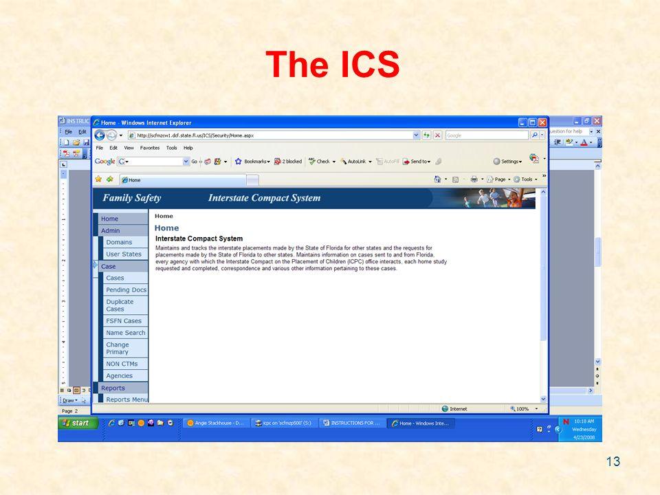 13 The ICS