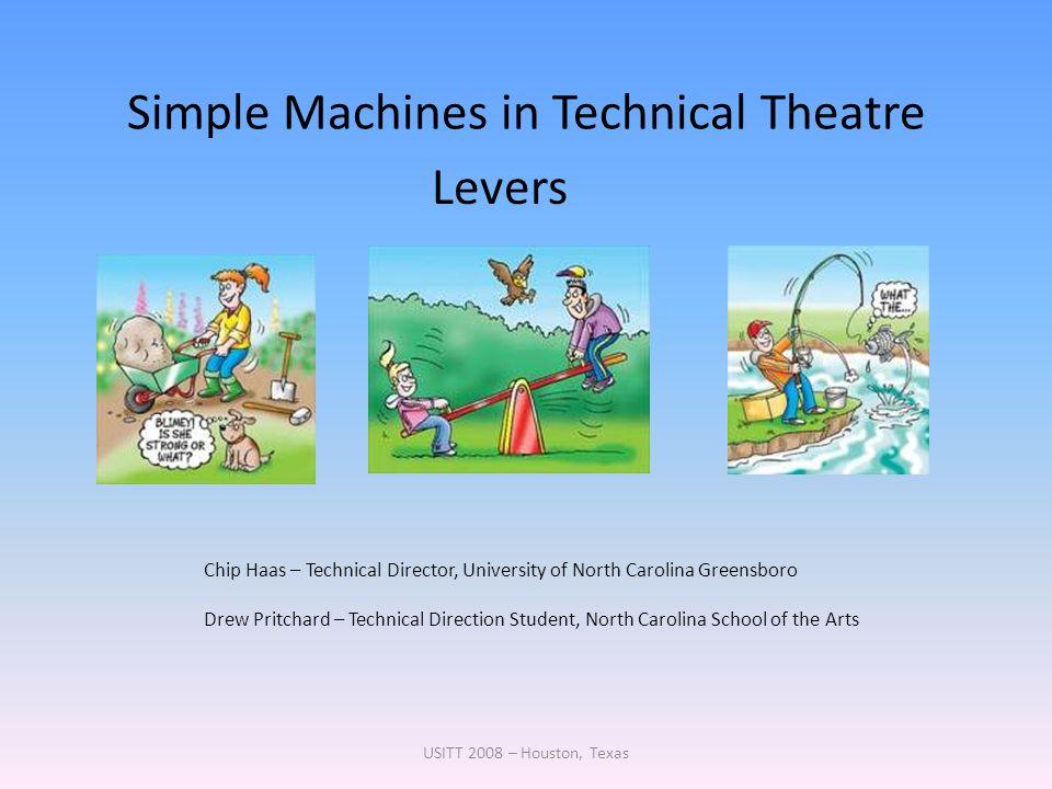 Simple Machines in Technical Theatre USITT 2008 – Houston, Texas Chip Haas – Technical Director, University of North Carolina Greensboro Drew Pritchar