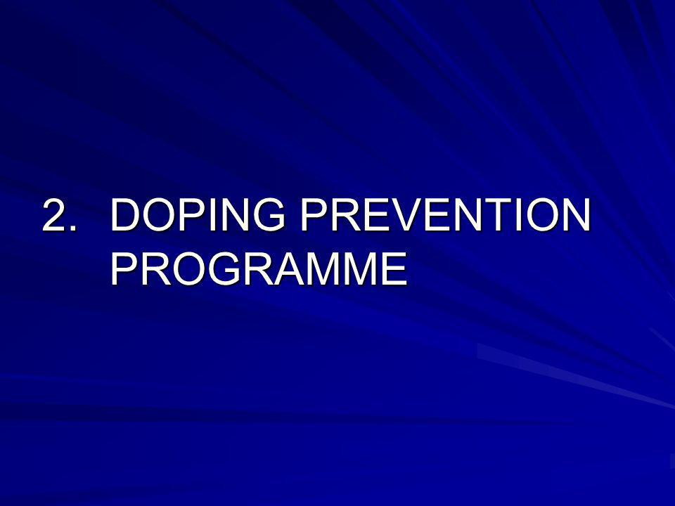 2.DOPING PREVENTION PROGRAMME