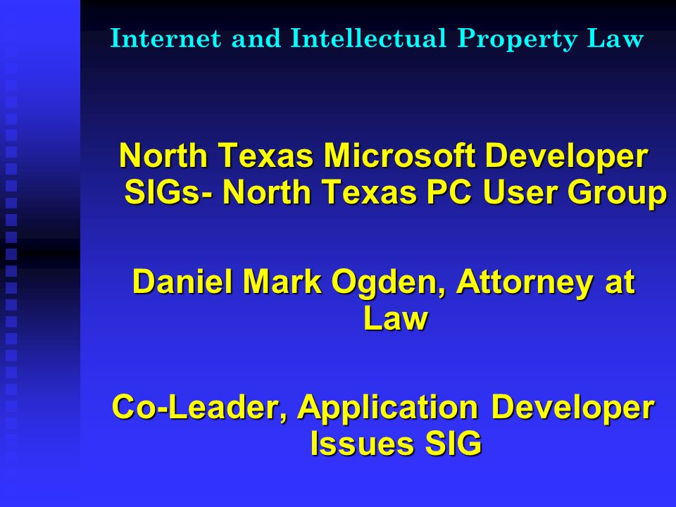 Internet and Intellectual Property Law Copyrights Copyrights Copyrights are an exclusive right granted to an individual or corporation for original expressions that are creative (original) in nature.