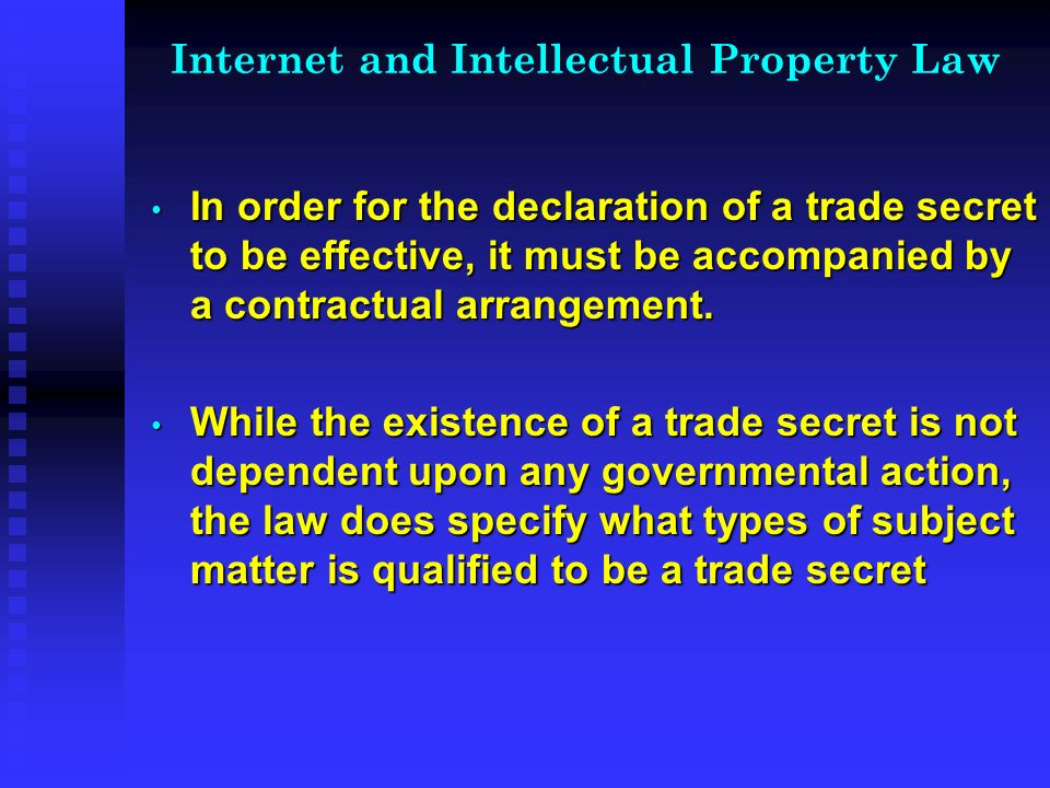 Internet and Intellectual Property Law Examples of Cybersquatting Examples of Cybersquatting micr0soft.com micr0soft.com worldwrestlingfederation.com worldwrestlingfederation.com Bad faith is the key test used to determine whether cybersquatting has occurred Bad faith is the key test used to determine whether cybersquatting has occurred Metatags- Often include others trademarks; law is uncertain as to legality Metatags- Often include others trademarks; law is uncertain as to legality
