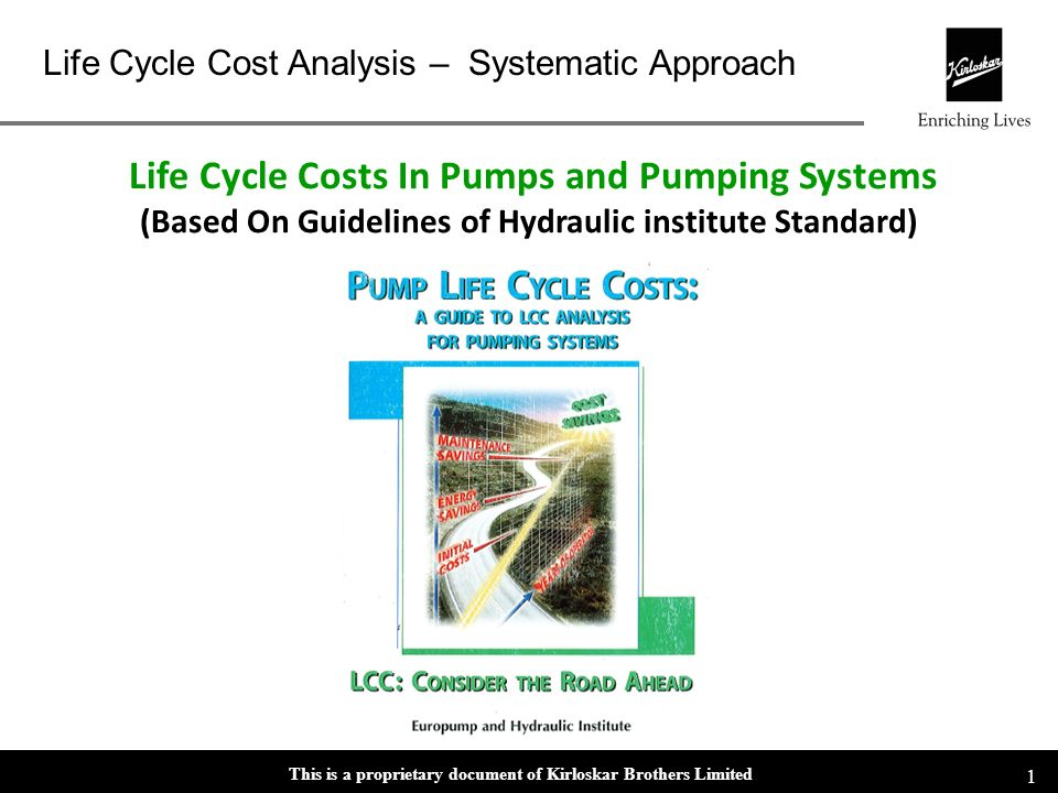 This is a proprietary document of Kirloskar Brothers Limited Life Cycle Cost Analysis – Systematic Approach 11 FEATURE/ADVANTAGECUSTOMER BENEFIT Mechanical Seals Customer specified mechanical seals.