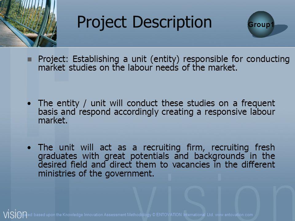 Created based upon the Knowledge Innovation Assessment Methodology © ENTOVATION International Ltd. www.entovation.com Project Description Project: Est