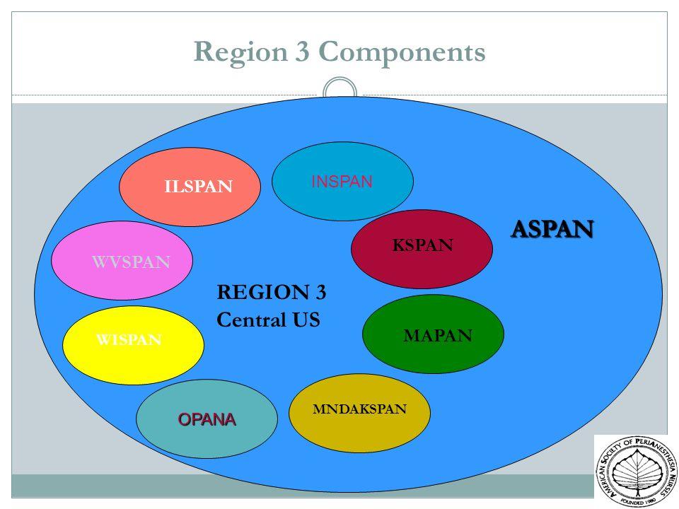 Region 3 Components INSPAN ASPAN OPANA REGION 3 Central US KSPAN MAPAN MNDAKSPAN WISPAN WVSPAN ILSPAN