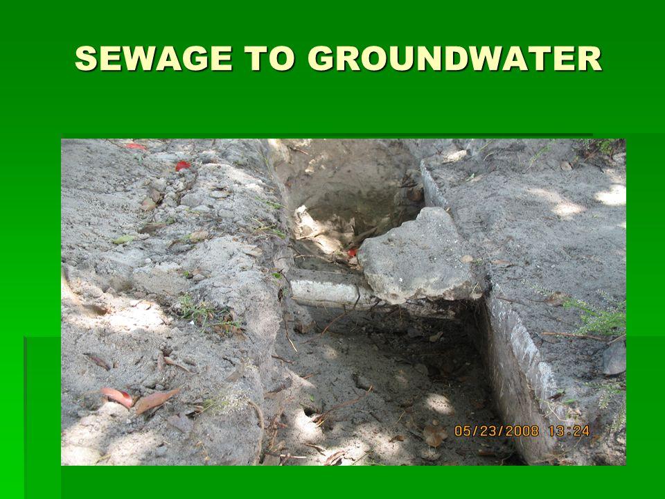 SEWAGE TO GROUNDWATER