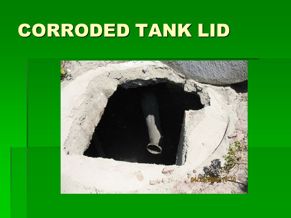 CORRODED TANK LID