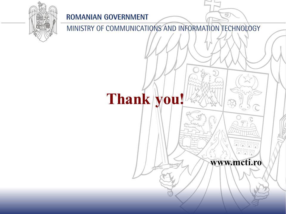 Thank you! www.mcti.ro