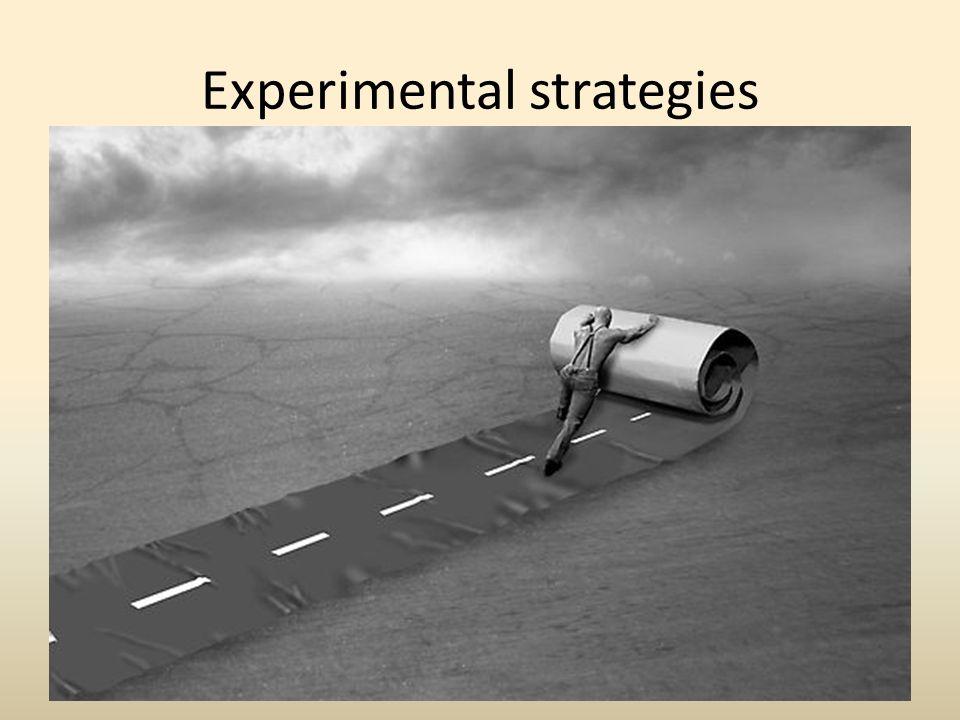 Experimental strategies