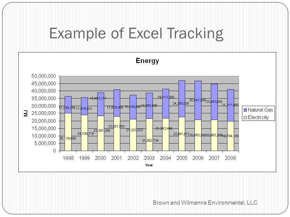 Brown and Wilmanns Environmental, LLC Example of Excel Tracking 13