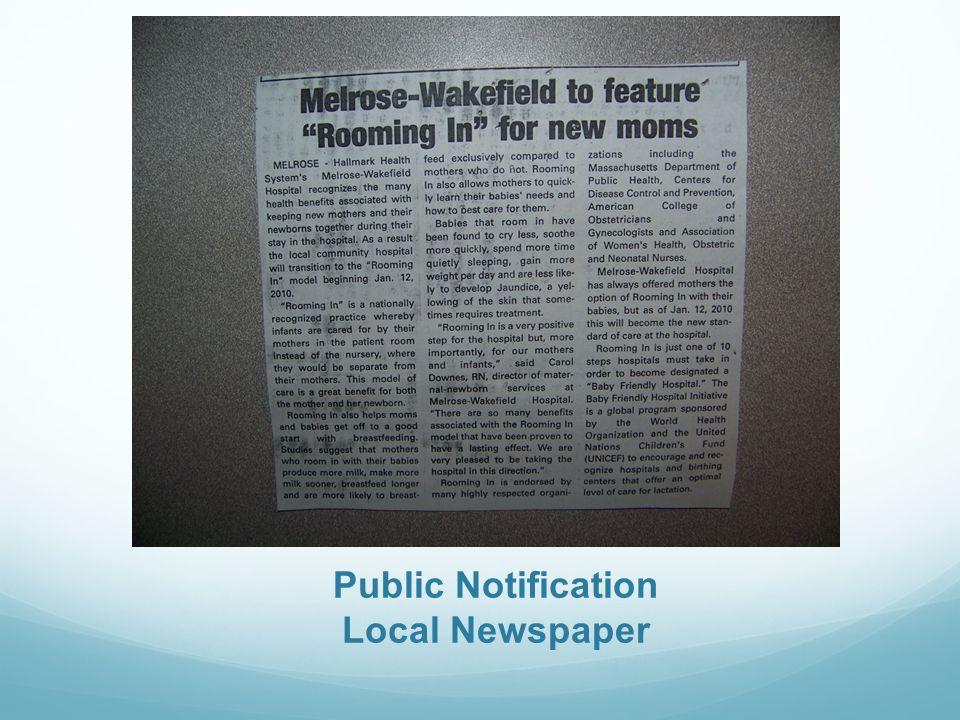Public Notification Local Newspaper