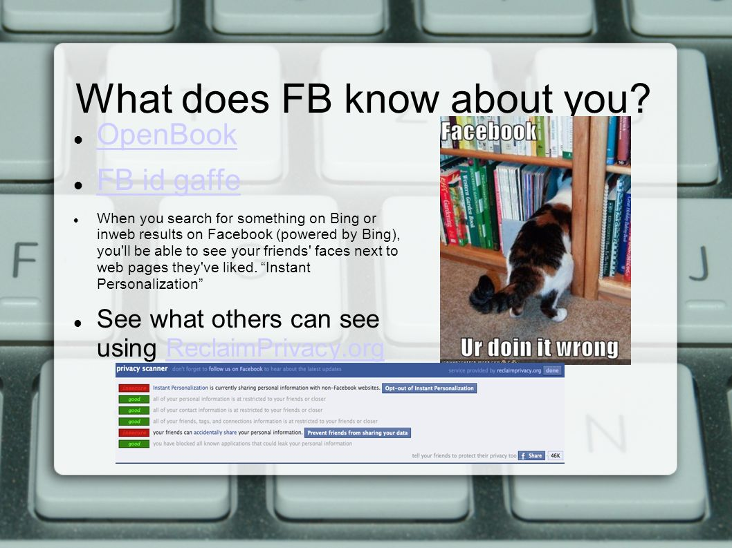 What does FB know about you.