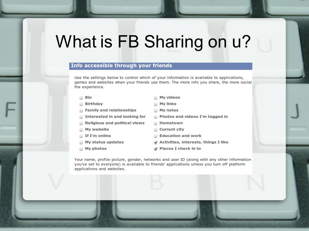 What is FB Sharing on u