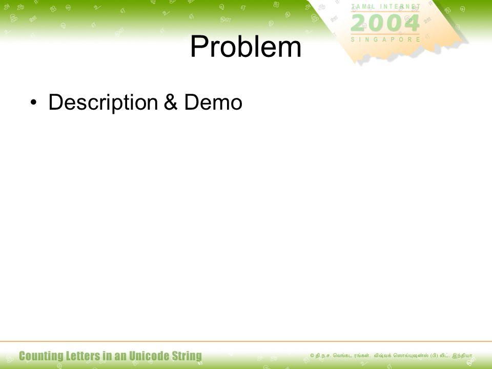 Problem Description & Demo