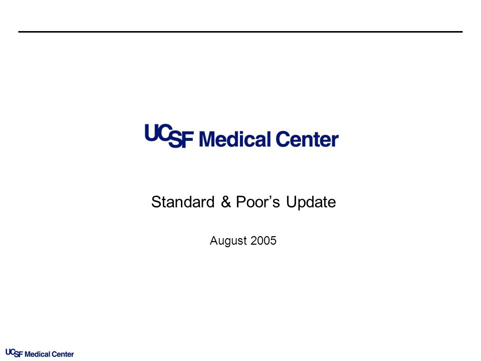 Standard & Poors Update August 2005