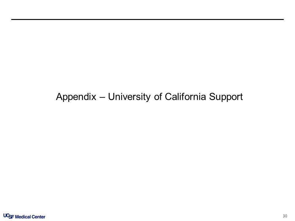 30 Appendix – University of California Support