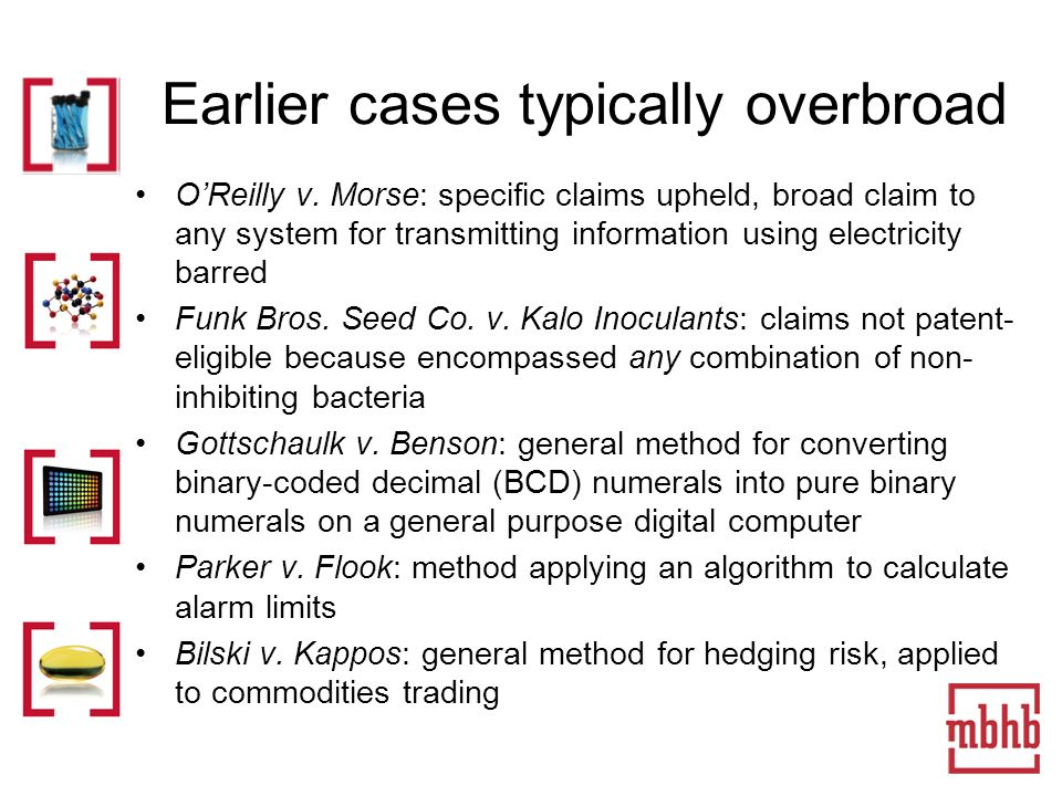 Earlier cases typically overbroad OReilly v.