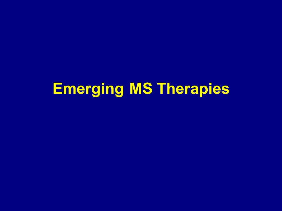 Emerging MS Therapies