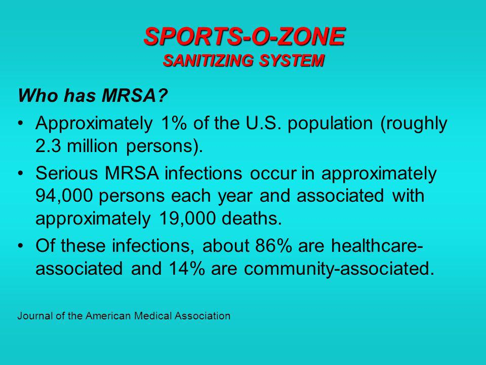 SPORTS-O-ZONE SANITIZING SYSTEM Practice good personal hygiene Keep your hands clean by washing frequently with soap and water or using an alcohol-based hand rub.