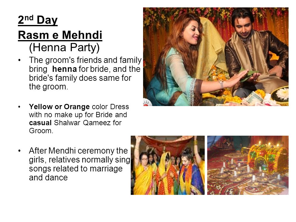 3 rd Day The main day of wedding is called shaadi.