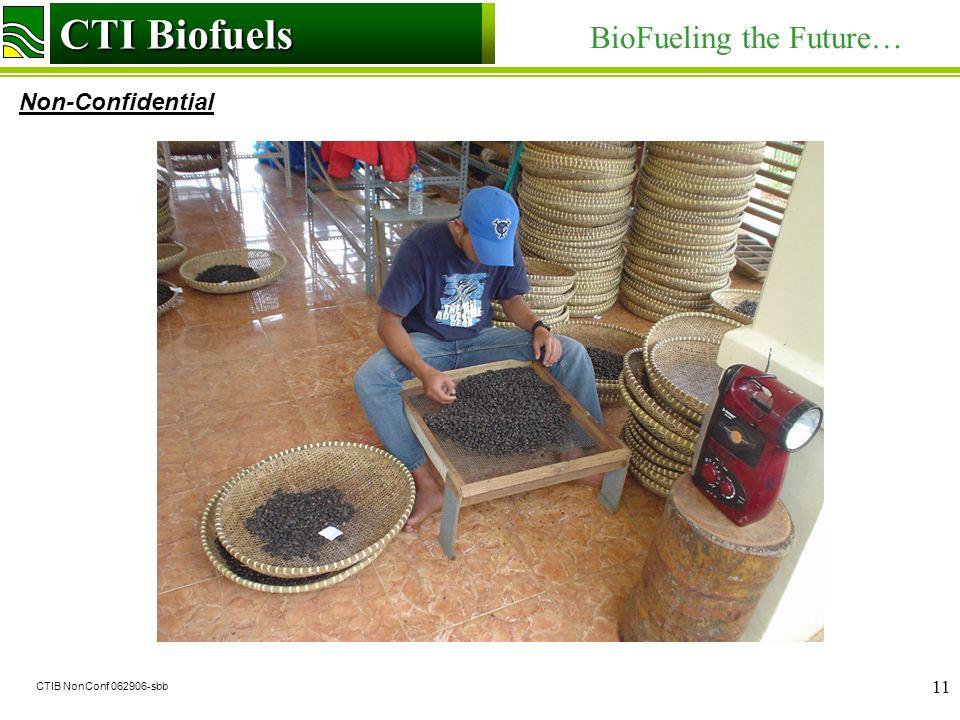 CTI Biofuels BioFueling the Future… Non-Confidential CTI Biofuels CTIB NonConf 062906-sbb 11