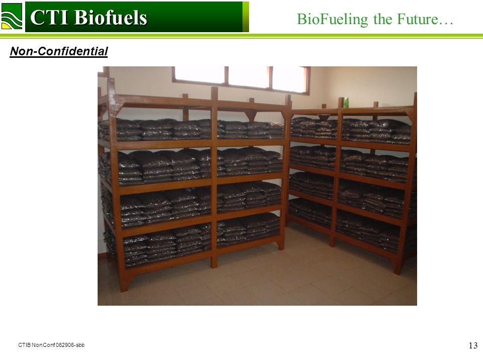 CTI Biofuels BioFueling the Future… Non-Confidential CTI Biofuels CTIB NonConf 062906-sbb 13