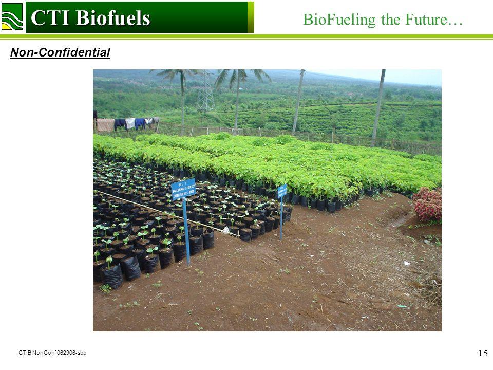 CTI Biofuels BioFueling the Future… Non-Confidential CTI Biofuels CTIB NonConf 062906-sbb 15