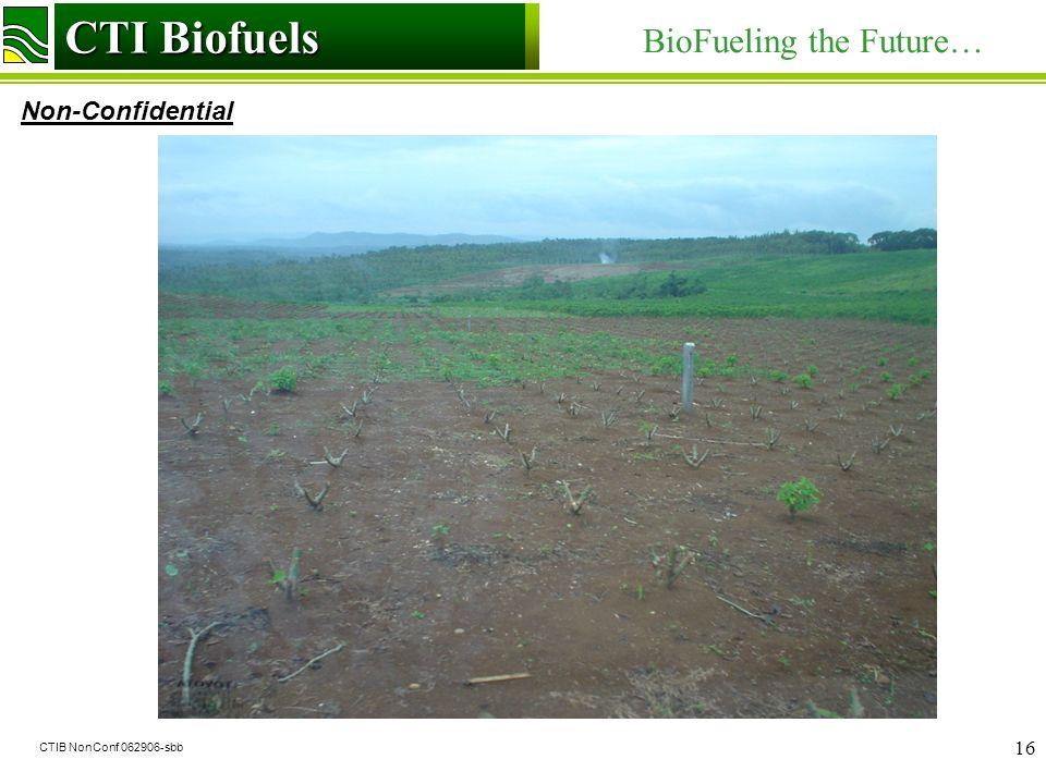 CTI Biofuels BioFueling the Future… Non-Confidential CTI Biofuels CTIB NonConf 062906-sbb 16