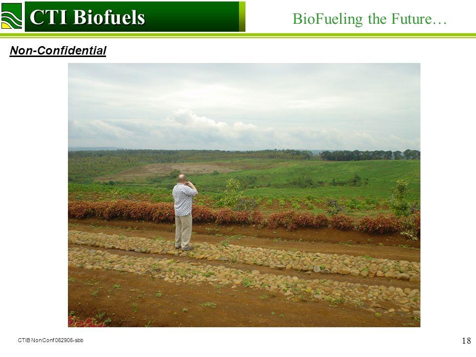 CTI Biofuels BioFueling the Future… Non-Confidential CTI Biofuels CTIB NonConf 062906-sbb 18