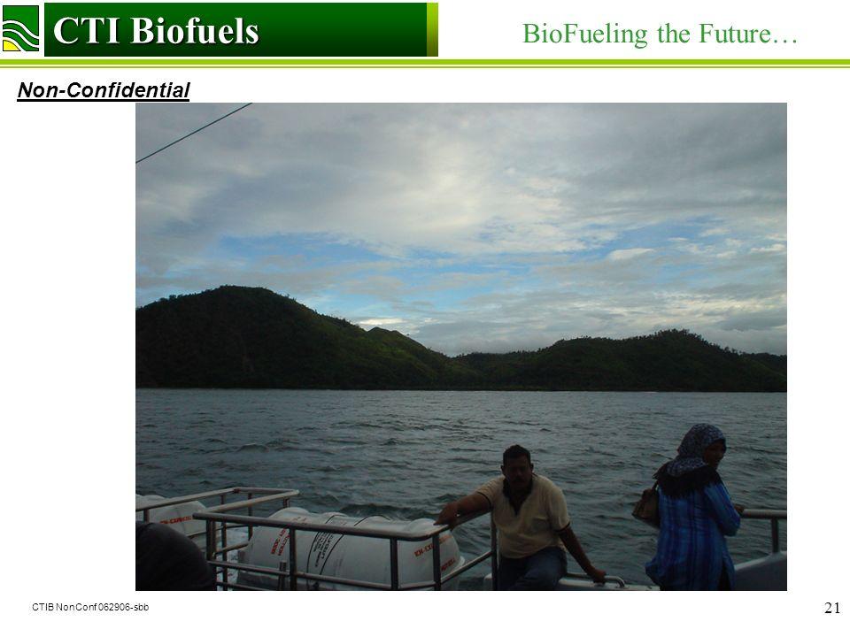 CTI Biofuels BioFueling the Future… Non-Confidential CTI Biofuels CTIB NonConf 062906-sbb 21