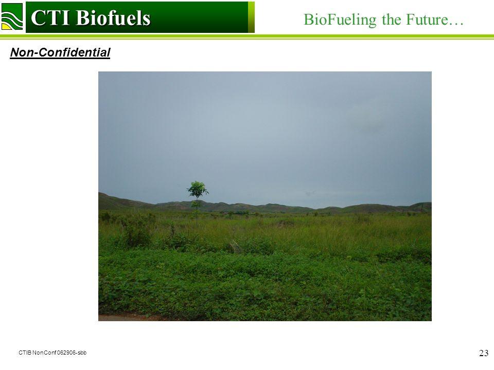 CTI Biofuels BioFueling the Future… Non-Confidential CTI Biofuels CTIB NonConf 062906-sbb 23
