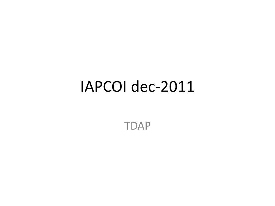 IAPCOI dec-2011 TDAP