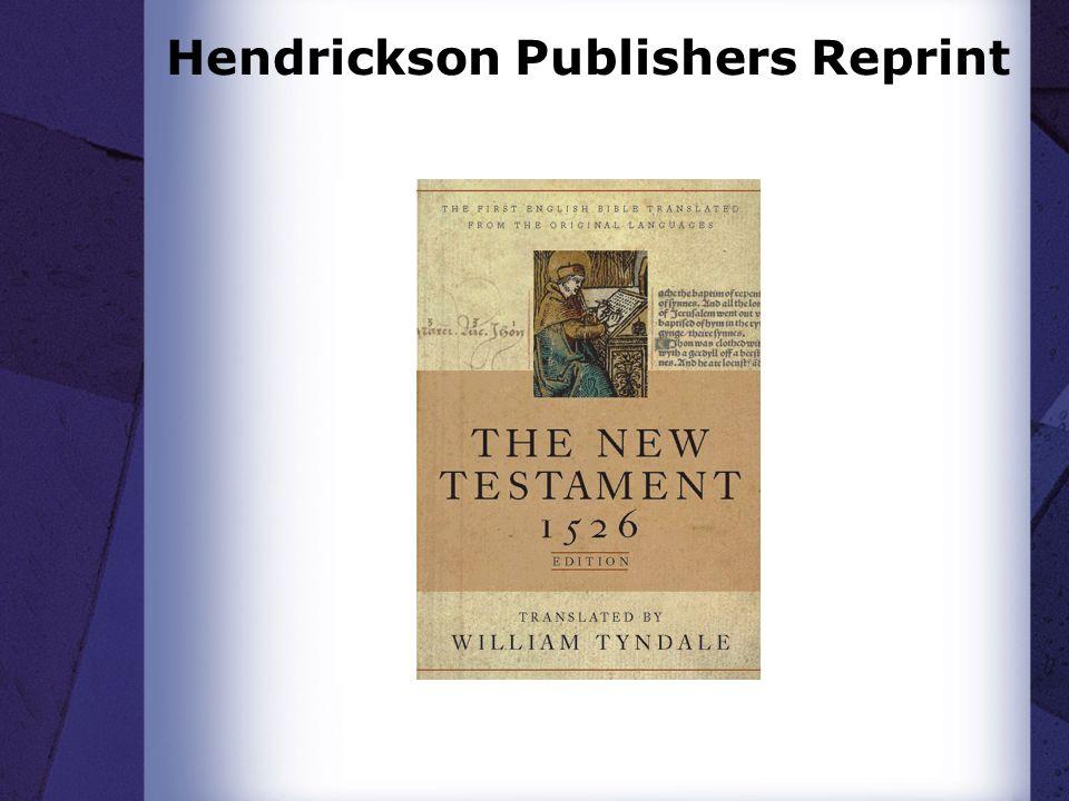 Hendrickson Publishers Reprint