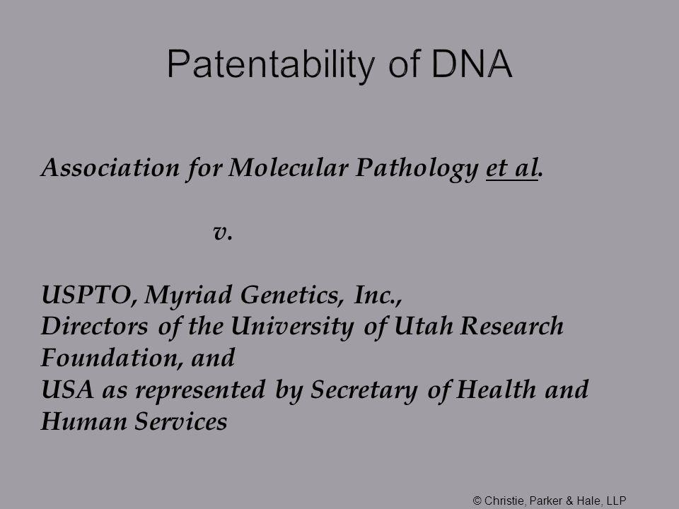 Association for Molecular Pathology et al. v.