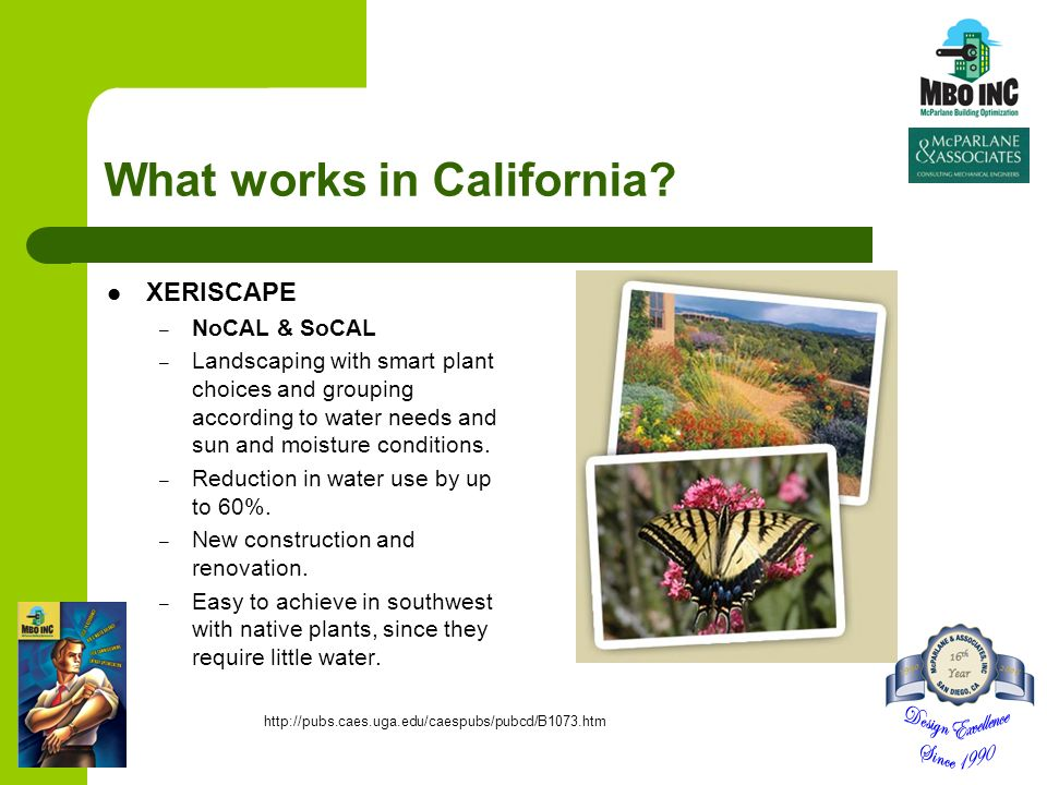 What works in California? XERISCAPE – NoCAL & SoCAL – Landscaping with smart plant choices and grouping according to water needs and sun and moisture