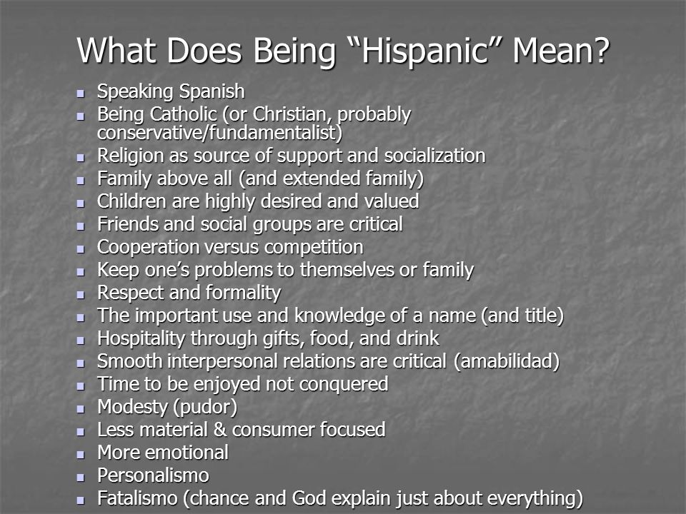 What Does Being Hispanic Mean.