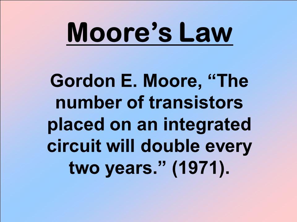 Moores Law Gordon E.