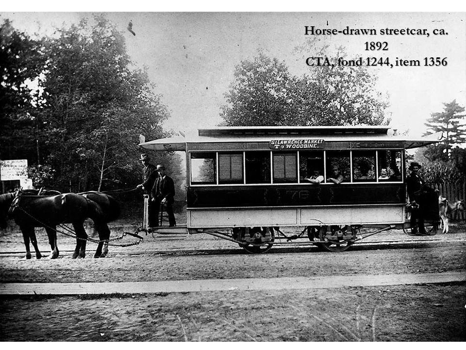 Horse-drawn streetcar, ca. 1892 CTA, fond 1244, item 1356