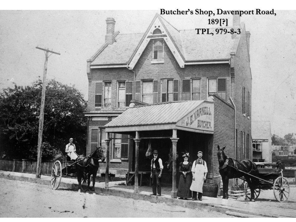 Butchers Shop, Davenport Road, 189[?] TPL, 979-8-3