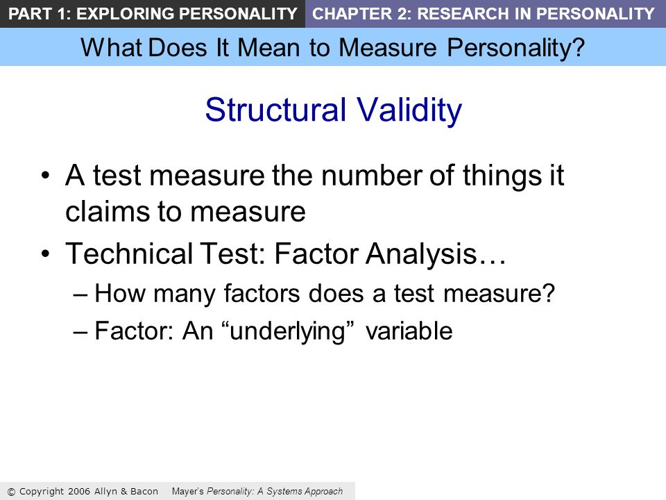 What Does It Mean to Measure Personality.