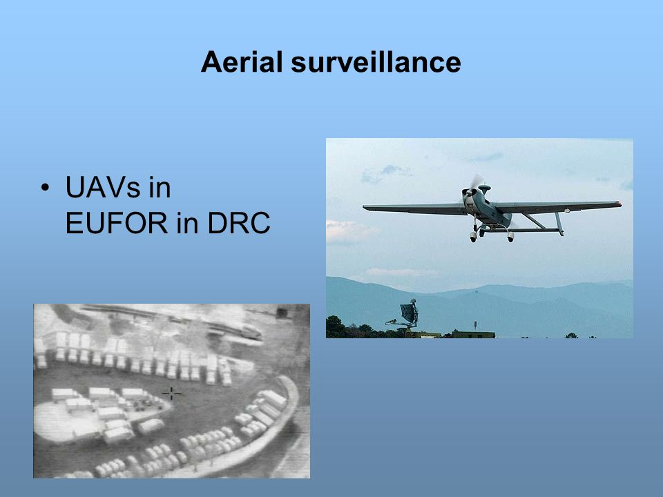 Aerial surveillance UAVs in EUFOR in DRC