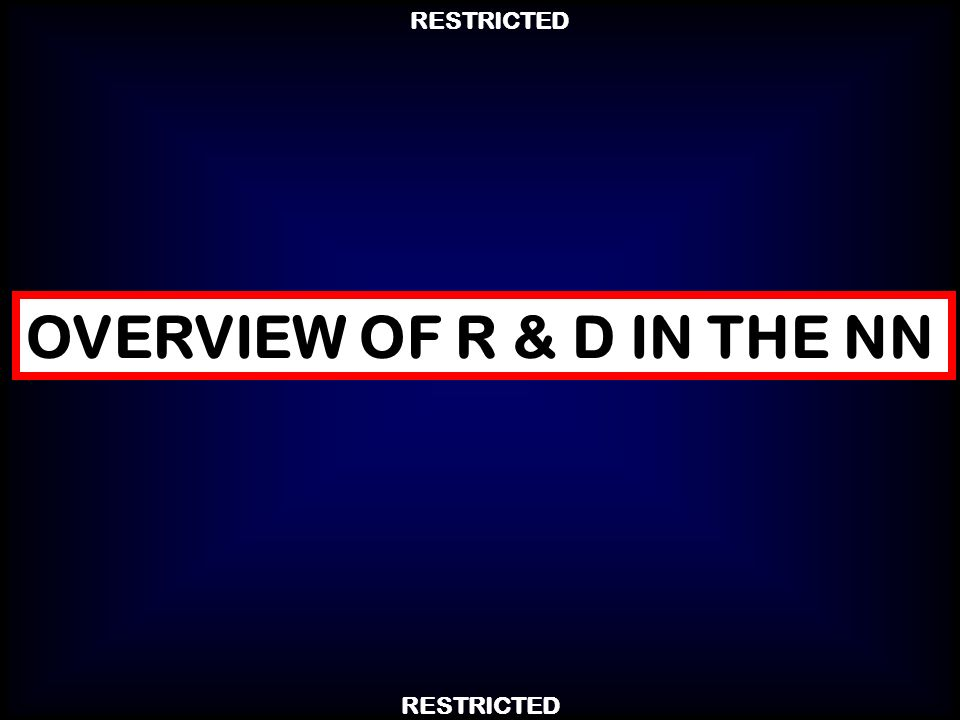 RESTRICTED OVERVIEW OF R & D IN THE NN
