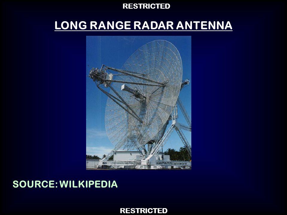 LONG RANGE RADAR ANTENNA SOURCE: WILKIPEDIA