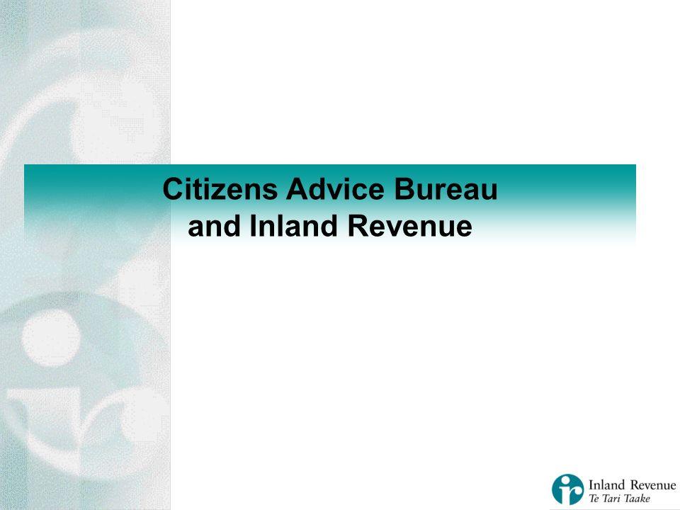 Citizens Advice Bureau and Inland Revenue