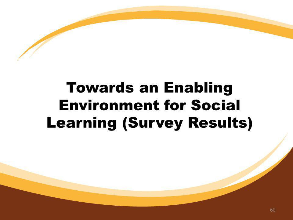 Towards an Enabling Environment for Social Learning (Survey Results) 60