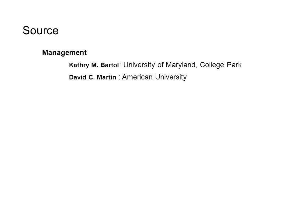2-Pioneering ideas in management 31 Source Management Kathry M. Bartol : University of Maryland, College Park David C. Martin : American University