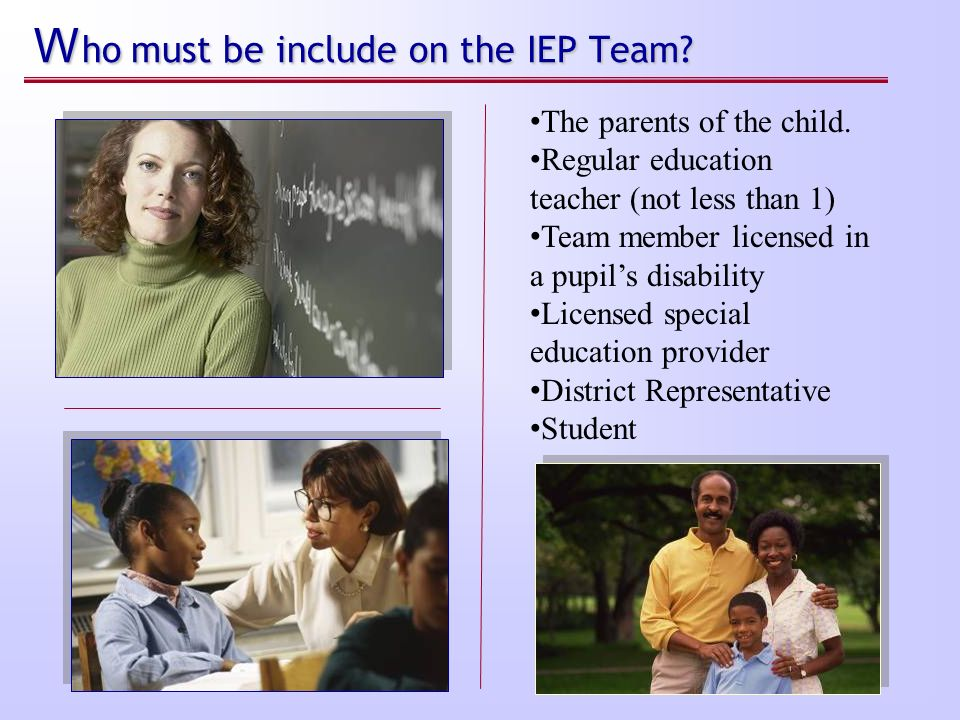 Steps: The Basics of Special Education Process under IDEA Step 5. Step 5. IEP meeting is scheduled