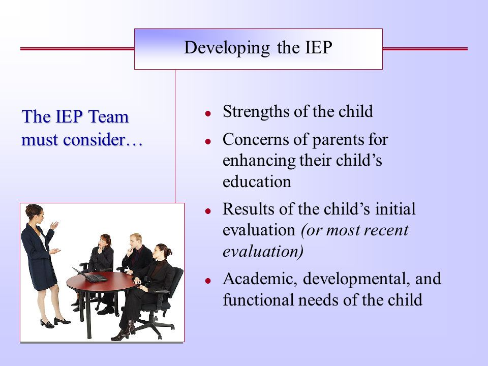 IDEAs Definition of IEP §300.22 §300.320 §300.324