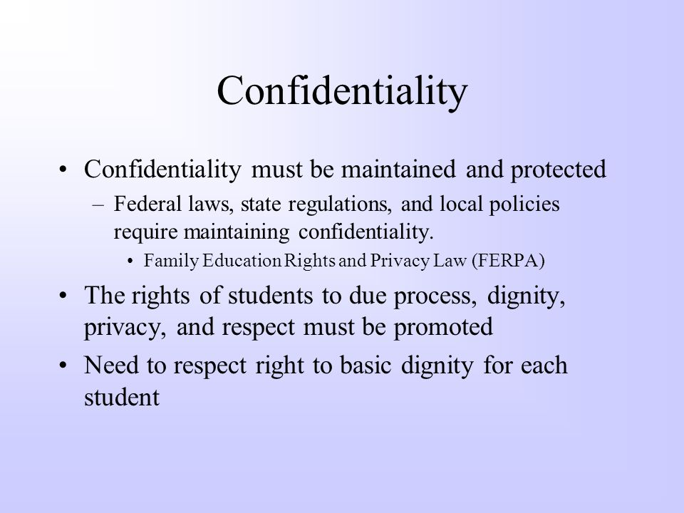 Confidentiality Mandated Reporting